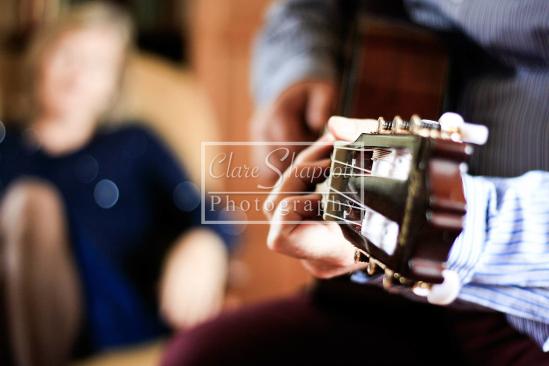 Professional Photograph Family Couple Portrait Guitar