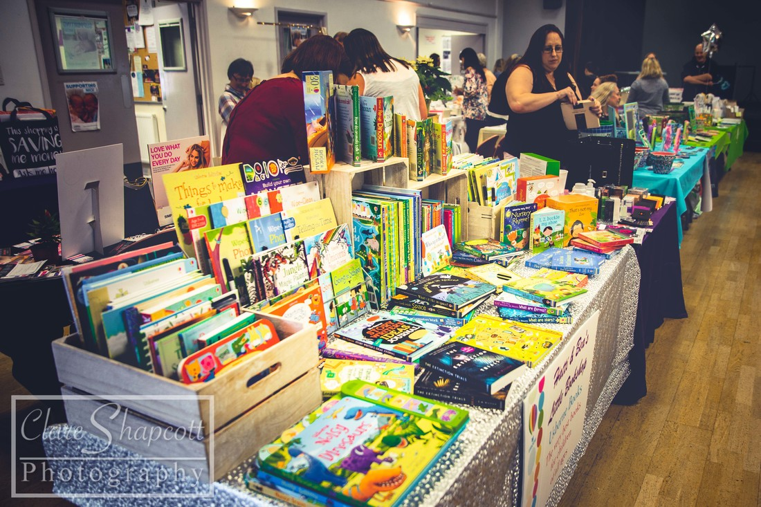 Photography for book shop stall at family fun event, raising money for premature and sick newborn babies.