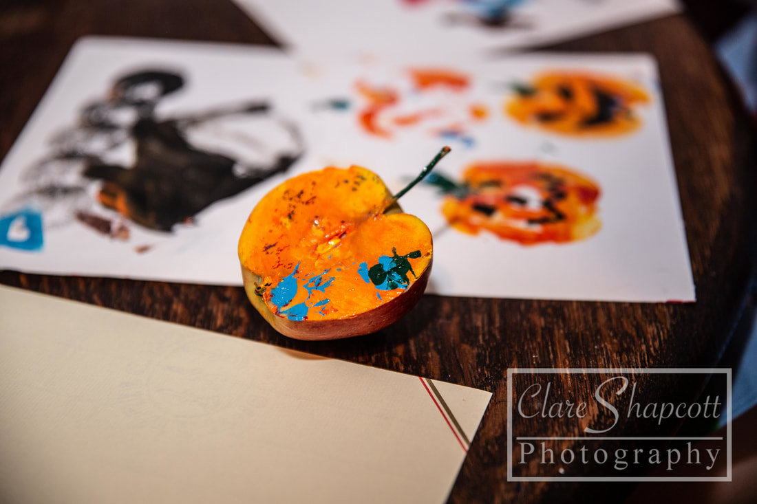 Craft Ideas for Halloween Photographs paint messy play